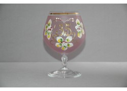 Jubilee Glass Carmen 35 years pink www.sklenenevyrobky.cz