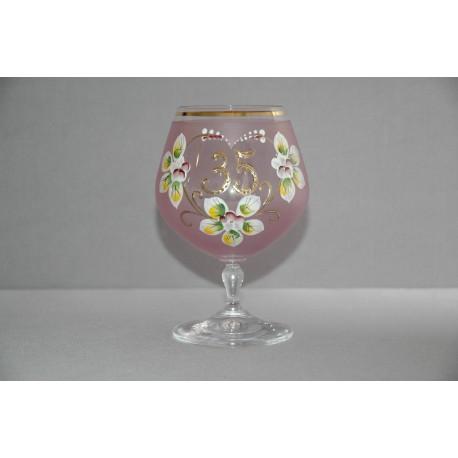 Výroční sklenička Carmen 35 (400ml růžová)