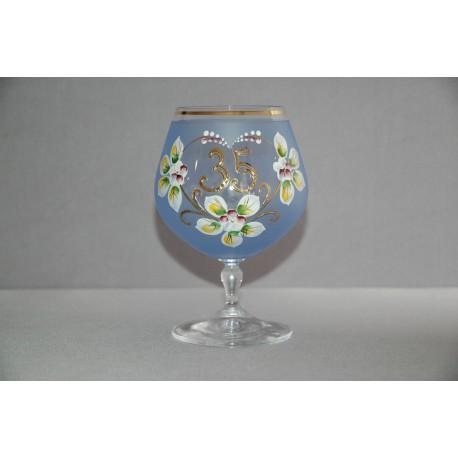 Výroční sklenička Carmen 35 (400ml modrá)