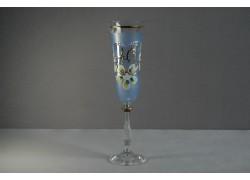 Výroční sklenička Angela - flétna 40 let modrá