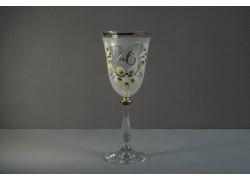 Jubilee wine glass Angela 40 years white