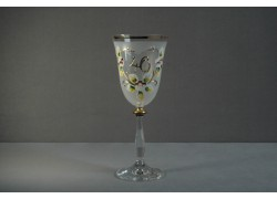 Jubilejní sklenice na víno Angela 40 (250ml bílá)