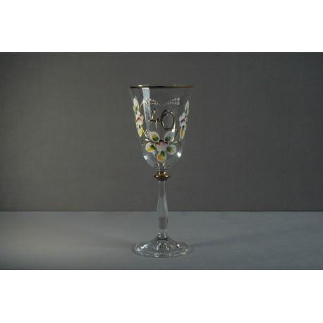 Výroční sklenička Angela 40 let (250ml crystal) www.sklenenevyrobky.cz