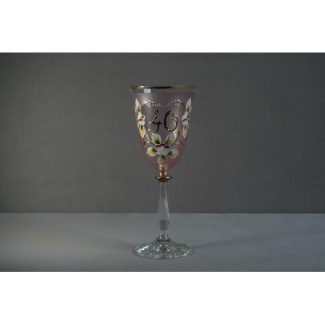 Výroční sklenička Angela 400 (250ml růžová)