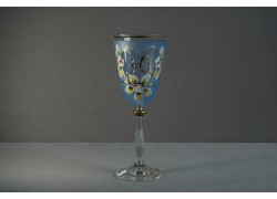 Jubilee wine glass Angela 40 years blue