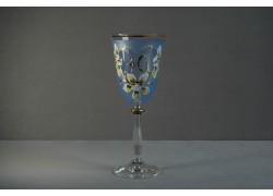 Jubilejní sklenice na víno Angela 40 (250ml modrá)