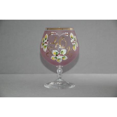 Výroční sklenička Carmen 40 let (400ml růžová) www.sklenenevyrobky.cz