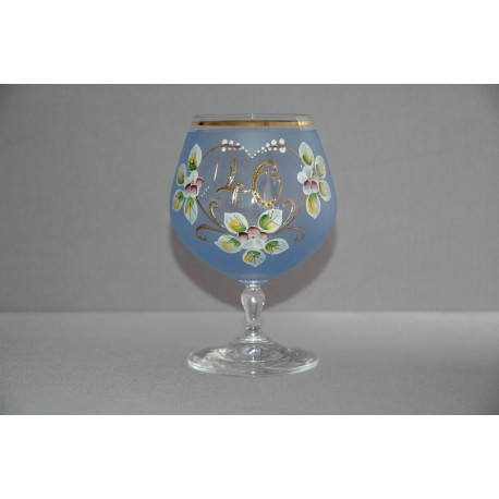 Výroční sklenička Carmen 40 (400ml modrá)
