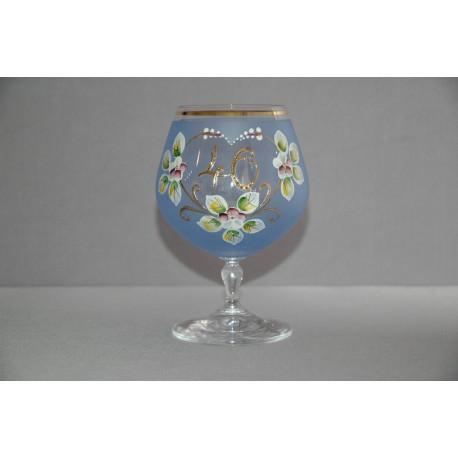 Výroční sklenička Carmen 40 let (400ml modrá) www.sklenenevyrobky.cz