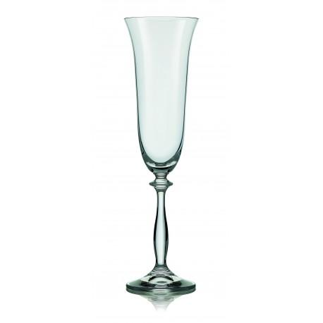 Sklenice na šampaňské víno Angela 190 ml set 6 ks www.sklenenevyrobky.cz