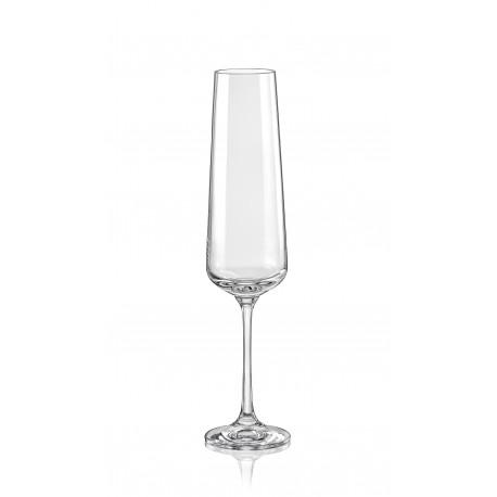 Sklenice na šampaňské víno Sandra 200 ml set 6 ks www.sklenenevyrobky.cz