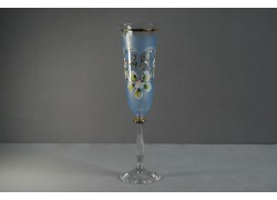 Jubilee glas Angela - flute 45 years blue