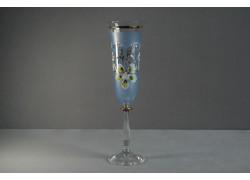 Výroční sklenička Angela - flétna 45 let modrá