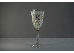 Jubilejní sklenice na víno Angela 45 let (250ml bílá)