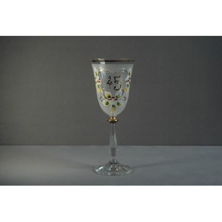 Výroční sklenička Angela 45 (250ml bílá)