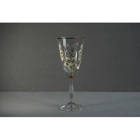 Výroční sklenička Angela 45 (250ml crystal)