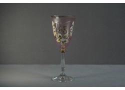 Jubilejní sklenice na víno Angela 45 let (250ml růžová)