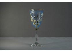 Jubilejní sklenice na víno Angela 45 let (250ml modrá)