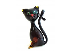Cat made of blown glass