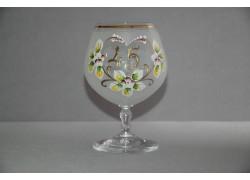 Výročný pohár Carmen 45 rokov biela www.sklenenevyrobky.cz