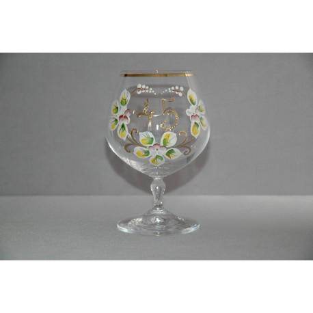 Glass - jubilee for birthdays 45 year www.sklenenevyrobky.cz