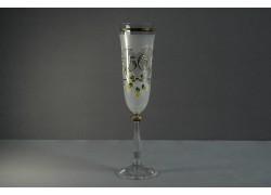 Jubilee glass Angela flute 50 years white www.sklenenevyrobky.cz
