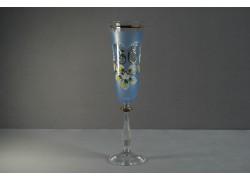Výroční sklenička Angela - flétna 50 let modrá