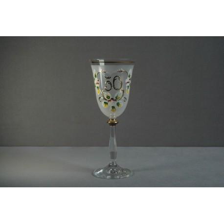 Výroční sklenička Angela 50 (250ml bílá)