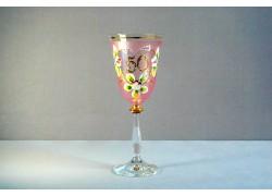 Jubilee wine glas Angela 50 years pink www.sklenenevyrobky.cz