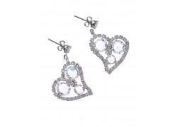 Heart earrings www.sklenenevyrobky.cz