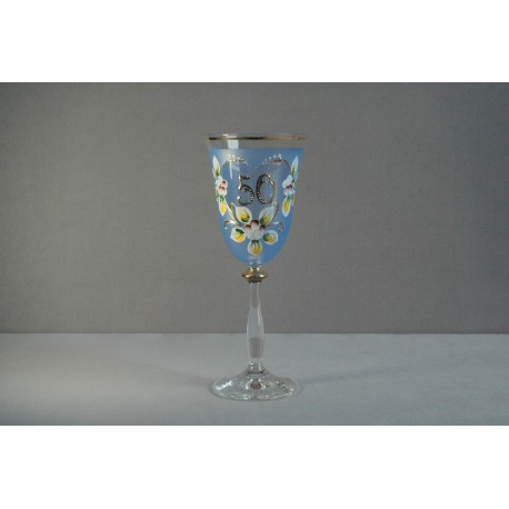 Výroční sklenička Angela 50 (250ml modrá)