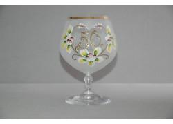 Jubilee Glass Carmen 50 years white www.sklenenevyrobky.cz