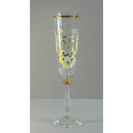 Výroční sklenička Angela - flétna 55 (190ml crystal)