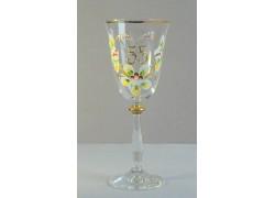 Výroční sklenička Angela 55 let (250ml crystal) www.sklenenevyrobky.cz