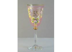 Výroční sklenička Angela 55 let (250ml růžová) www.sklenenevyrobky.cz