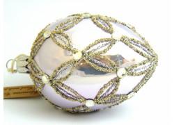 Fabergého vajíčka 6001 zdobené sklenenými kameňmi www.sklenenevyrobky.cz
