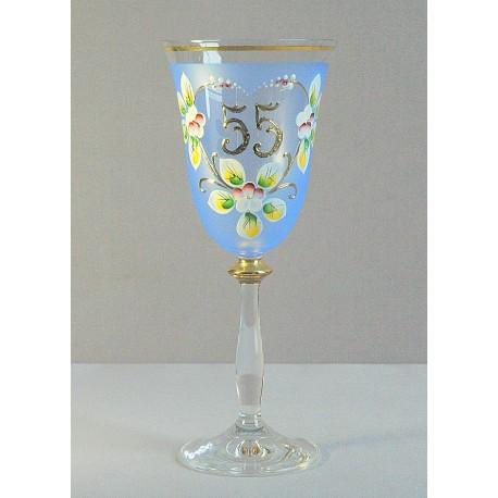 Výroční sklenička Angela 55 (250ml modrá)