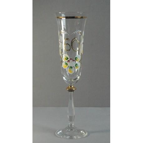 Výroční sklenička Angela - flétna 60 (190ml crystal)