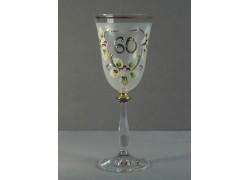 Výroční sklenička Angela 60 let (250ml, bílá) www.sklenenevyrobky.cz
