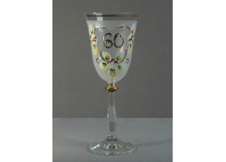 Výroční sklenička Angela 60 (250ml bílá)