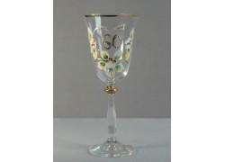 Jubilee wine glass Angela 60 years www.sklenenevyrobky.cz