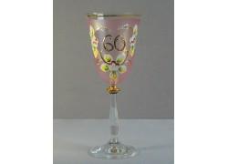 Výroční sklenička Angela 60 (250ml růžová)