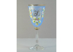 Výroční sklenička Angela 60 (250ml modrá)