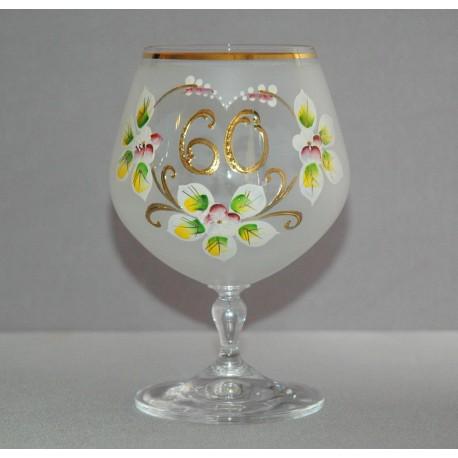 Výroční sklenička Carmen 60 let (400ml bílá) www.sklenenevyrobky.cz