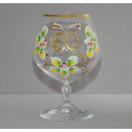 Výroční sklenička Carmen 60 let (400ml crystal) www.sklenenevyrobky.cz