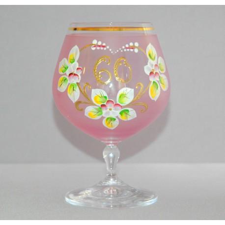 Výroční sklenička Carmen 60 let (400ml růžová) www.sklenenevyrobky.cz