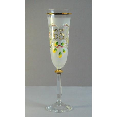 Výroční sklenička Angela - flétna 65 (190ml bílá)