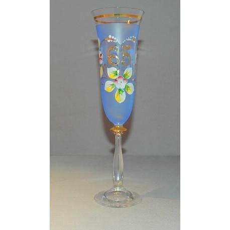 Výroční sklenička Angela - flétna 65 (190ml modrá)