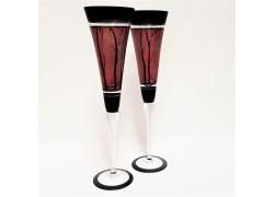 Poháre na šampanské 180ml set 2ks www.sklenenevyrobky.cz