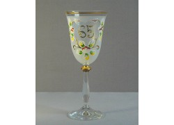 Výroční sklenička Angela 65 (250ml bílá)